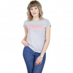Bench Damen T-Shirt New Logo grau