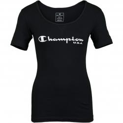 Champion Damen T-Shirt schwarz