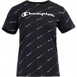 Champion Allover Print Damen T-Shirt schwarz