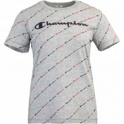 Champion Allover Print Damen T-Shirt grau