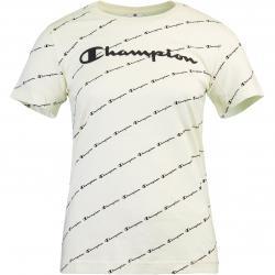 Champion Allover Print Damen T-Shirt weiß