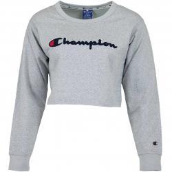 Champion Damen Sweatshirt Logo grau