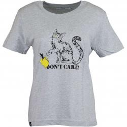 Dedicated Damen T-Shirt Do Not Care grau