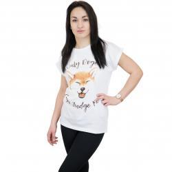 Dedicated Damen T-Shirt Doge weiß