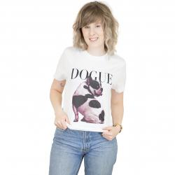 Dedicated Damen T-Shirt Frenchie weiß