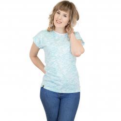 Dedicated Damen T-Shirt Ink Waves weiß/türkis