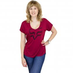 Fox Damen T-Shirt Responded dunkelrot