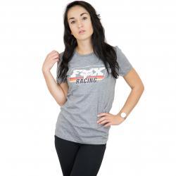 Fox Damen T-Shirt Retro Fox grau