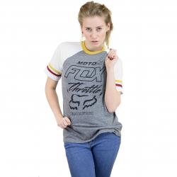 Fox Damen T-Shirt Throttle Maniac Raglan grau
