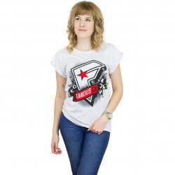 Famous Stars And Straps Damen T-Shirt Famous CA weiß