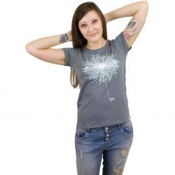 Iriedaily Damen T-Shirt Blowball dunkelgrau meliert
