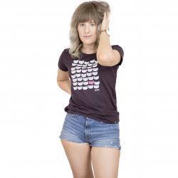 Iriedaily Damen T-Shirt Catpat aubergine