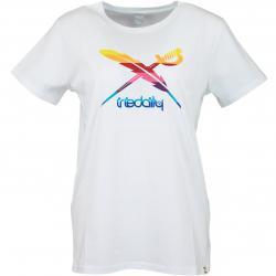 Iriedaily Damen T-Shirt Flagcolor weiß