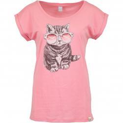 Iriedaily Damen T-Shirt Iriecat pink