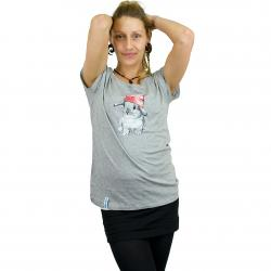 Iriedaily Damen T-Shirt It Hasi grau meliert