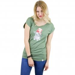 Iriedaily Damen T-Shirt It Hasi olive melange