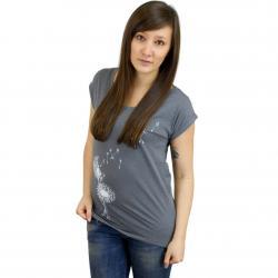 Iriedaily Damen T-Shirt Pusteblume dunkelgrau