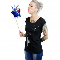 Iriedaily Damen T-Shirt Pusteblume schwarz
