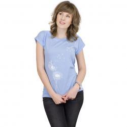 Iriedaily Damen T-Shirt Pusteblume sky blue melange