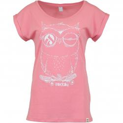 Iriedaily Damen T-Shirt Skateowl 2 flamingo