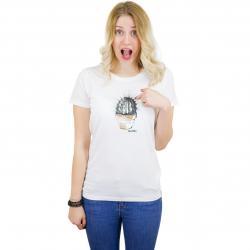Iriedaily Damen T-Shirt Spikey weiß