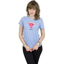 Iriedaily Damen T-Shirt Watermelon hellblau meliert