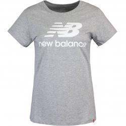 New Balance Essentials Stacked Logo Women T-Shirt grau