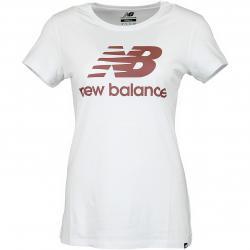 New Balance Damen T-Shirt Essentials Stacked weiß