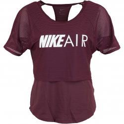 Nike Damen Laufshirt Air GX weinrot/weiß