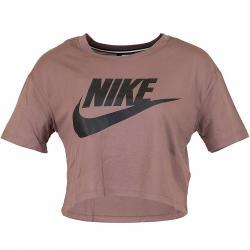 Nike Damen T-Shirt Essential Crop mauve/schwarz