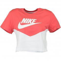 Nike Damen T-Shirt Heritage weiß/rot