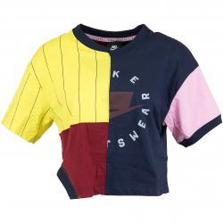 Nike Damen T-Shirt Mash-Up dunkelblau/rot