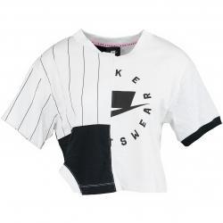 Nike Damen T-Shirt Mash-Up weiß/schwarz