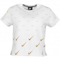 Nike Damen T-Shirt Metallic weiß