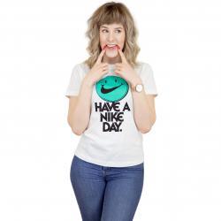 Nike Damen T-Shirt Nice Day weiß/schwarz