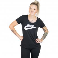 Nike Damen T-Shirt Urban ClassicsL SCP Futura Logo schwarz/weiß