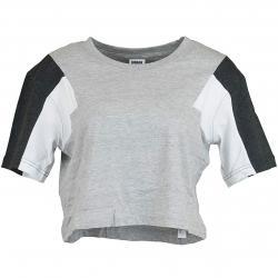 Urban Classics Damen T-Shirt 3-Tone Short Oversize grau/schwarz/weiß