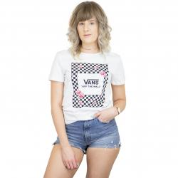 Vans Damen T-Shirt Boxed Rose Checks weiß