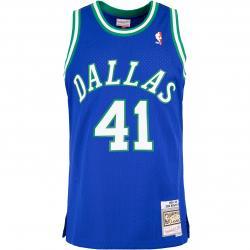 Mitchell & Ness NBA Swingman Dirk Nowitzki Dallas Mavericks 98/99 Trikot blau