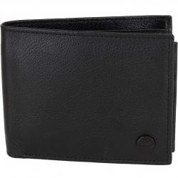 Reell Geldbörse Button Leather schwarz