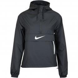 Nike Damen Windbreaker Swoosh Packable schwarz/weiß