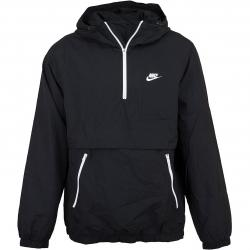 Nike Windbreaker Woven Half Zip schwarz/weiß