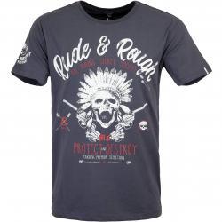Yakuza Premium Herren T-Shirt 3012 dunkelgrau