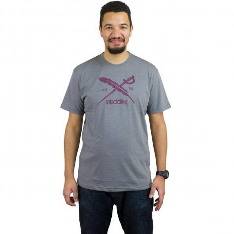 Iriedaily T-Shirt Daily Flag charcoal melange