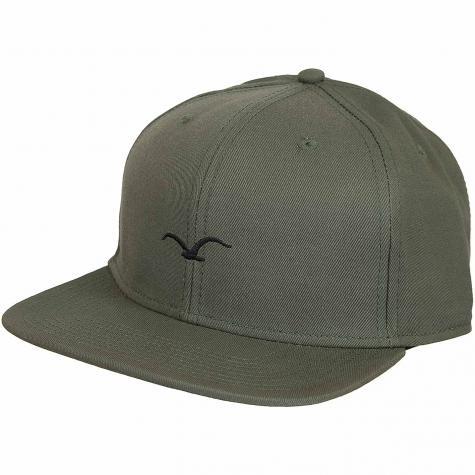 Cleptomanicx Snapback Cap Mini Möwe oliv