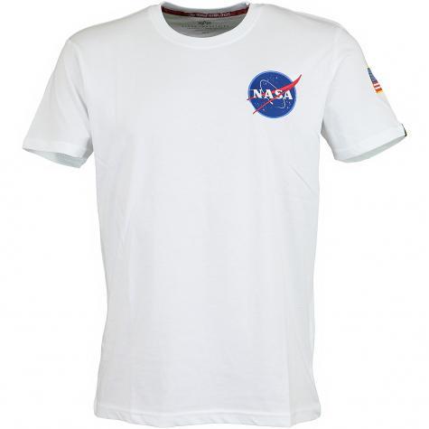Alpha Industries T-Shirt Space Shuttle weiß