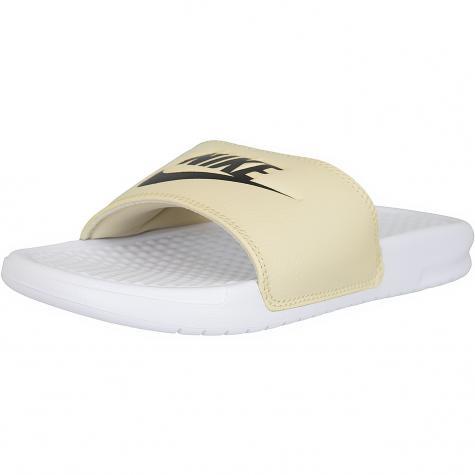 Nike Badelatschen Benassi JDI weiß/gold