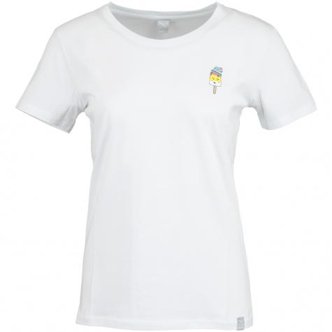 Iriedaily Damen T-Shirt Ice Beanie weiß