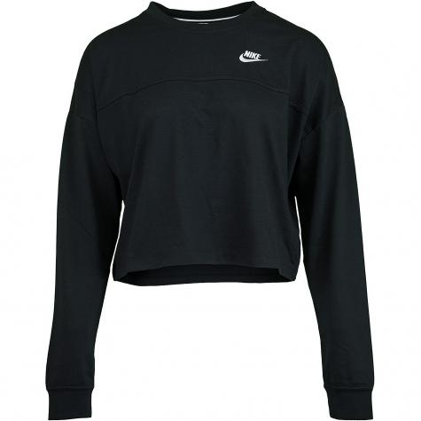 Nike Damen Sweatshirt Jersey schwarz