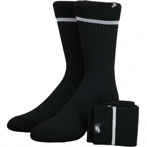 Nike Socken Essential Crew 2er schwarz/weiß